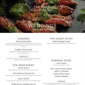 weddings.menu